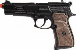Gonher Metalowy pistolet policyjny 8 naboi