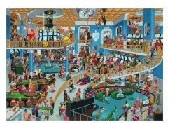 Puzzle 1000 elementów Szalony Chaos w kasynie, Oesterle (Puzzle+plakat)