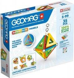 Klocki magnetyczne Supercolor Panels Recycled 35 elementów