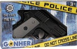 Pistolet policyjny metalowy 8 naboi Gonher