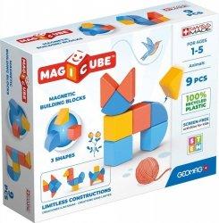 Klocki magnetyczne Magicube 3 Shapes Recycled Zwierzęta 9 elementów