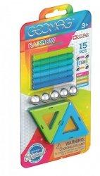 Klocki magnetyczne Rainbow panels Cold Blister 15 elementów