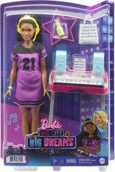 Lalka Barbie Big City Big Dreams Lalka Brooklyn + studio nagrań