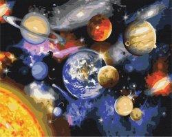 Obraz Paint it! Malowanie po numerach. Kosmos