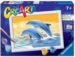 Malowanka CreArt dla dzecki Delfiny