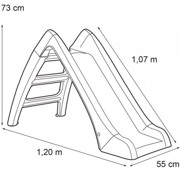 FEBER Zjeżdżalnia Ogrodowa dla Dzieci Ślizg 107 cm