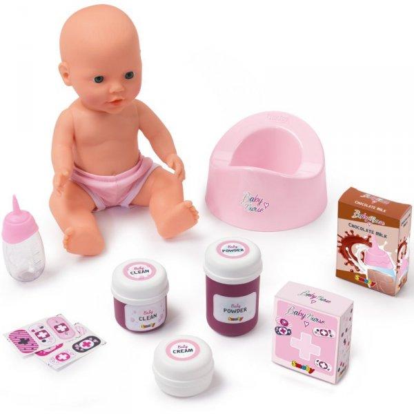 Smoby Baby Nurse Łóżeczko 2w1 Dla Lalki Przewijak + Lalka