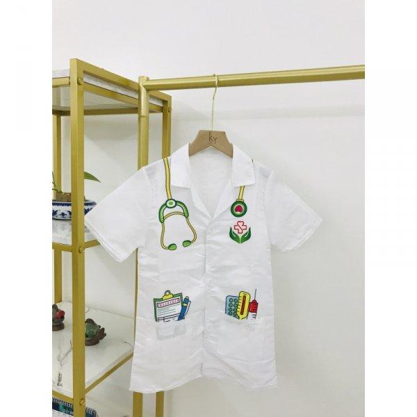 WOOPIE Strój Fartuch Lekarza Doktora Ubranko dla Dzieci do ok. 120 cm