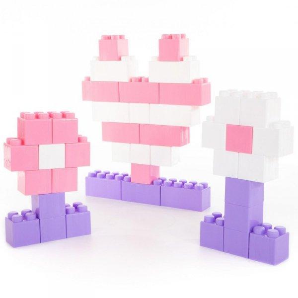 Wader QT Zestaw Klocków Różowe XXL 45 elementy