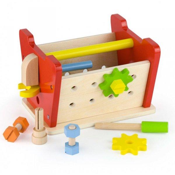 Viga Toys Drewniany Warsztat Majsterkowicza z Narzędziami Edukacyjny