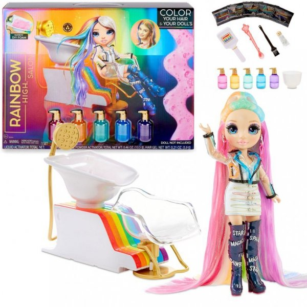 MGA Rainbow High Salon Playset Salon Fryzjerski