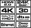 Savio CL-140 kabel HDMI 7.5 m HDMI Typu A (Standard) Czarny, Czerwony