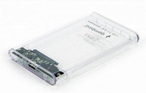 Gembird EE2-U3S9-6 obudowa do dysków twardych 2.5 Obudowa HDD Przezroczysty