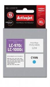 Tusz Activejet AB-1000CR (zamiennik Brother LC1000C/970C; Premium; 12 ml; niebieski)