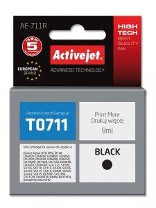 Tusz Activejet AE-711R (zamiennik Epson T0711, T0891, T1001; Premium; 9 ml; czarny)