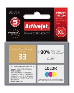 Tusz Activejet AL-33R (zamiennik Lexmark 33 18C0033E; Premium; 21 ml; kolor)