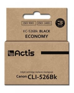 Tusz ACTIS KC-526Bk (zamiennik Canon CLI-526BK; Standard; 10 ml; czarny)