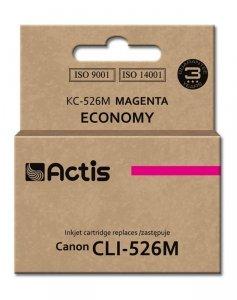 Tusz ACTIS KC-526M (zamiennik Canon CLI-526M; Standard; 10 ml; czerwony)