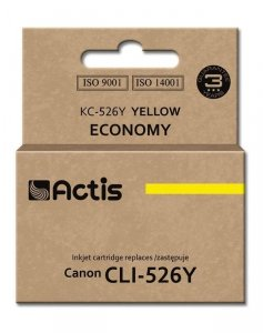 Tusz ACTIS KC-526Y (zamiennik Canon CLI-526Y; Standard; 10 ml; żółty)