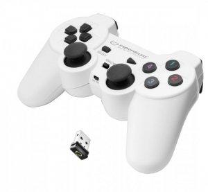 Gamepad bezprzewodowy Esperanza GLADIATOR EGG108W (PC, PS3; kolor biały)