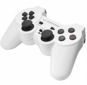 Gamepad Esperanza TROOPER EGG107W (PC, PS3; kolor biały)