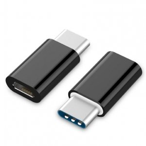 Adapter GEMBIRD A-USB2-CMmF-01 (USB typu C M - Micro USB F; kolor czarny)