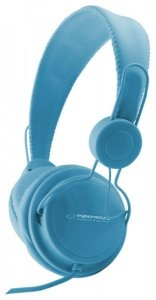 Esperanza EH148B headphones/headset Słuchawki Opaska na głowę Niebieski