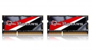 Zestaw pamięci G.SKILL Ripjaws F3-1600C9D-8GRSL (DDR3 SO-DIMM; 2 x 4 GB; 1600 MHz; CL9)