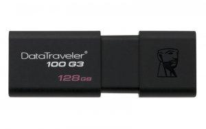 Pendrive Kingston DT100G3/128GB (128GB; USB 3.0; kolor czarny)