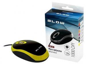 Mysz BLOW 84-017# (optyczna; 1000 DPI; kolor żółty)