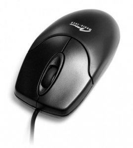 Mysz Media tech MT1075K-PS2 (optyczna; 800 DPI; kolor czarny)