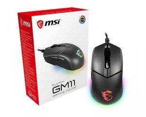 Mysz MSI Clutch GM11 (optyczna; 5000 DPI; kolor czarny)