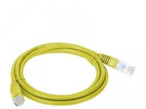 Patchcord UTP A-LAN KKU5ZOL1 (RJ45 - RJ45 ; 1m; UTP; kat. 5e; kolor żółty)