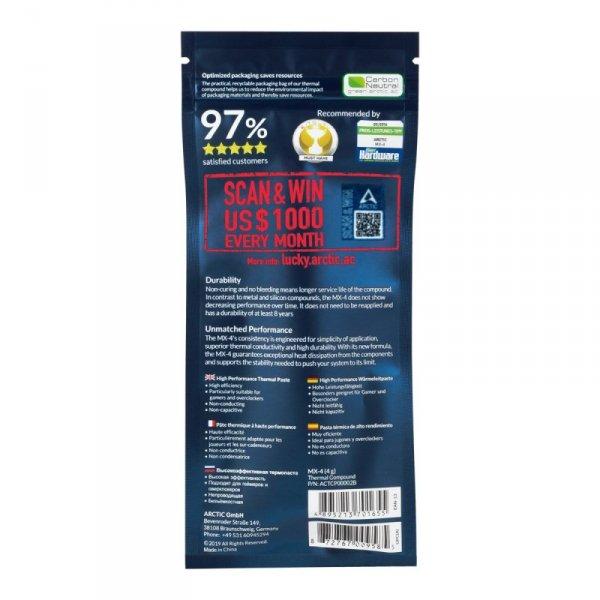 ARCTIC MX-4 pasta termoprzewodząca 8,5 W/m·K 4 g