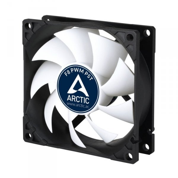 ARCTIC F8 PWM PST Obudowa komputera Wentylator 8 cm 1 szt. Czarny, Biały