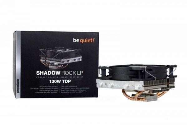 be quiet! Shadow Rock LP Procesor Chlodnica/wentylator 12 cm Czarny, Miedziany, Srebrny
