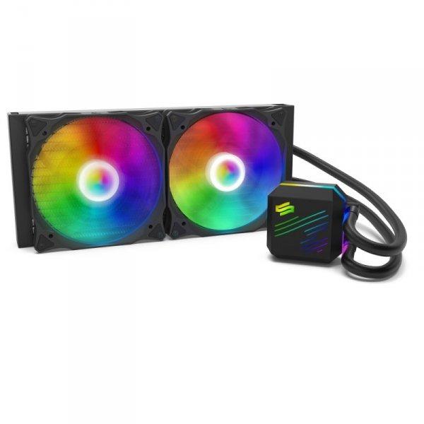 Chłodzenie wodne do procesora SilentiumPC Navis EVO ARGB 280 AIO SPC241 (AM2, AM2+, AM3, AM3+, AM4, FM1, FM2, FM2+, LGA 1150, LG