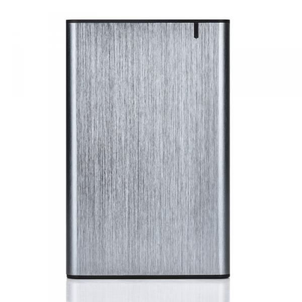 GEMBIRD EE2-U3S-6 Obudowa dysku HDD / SSD 2,5 cala z portem USB typu C USB 3.1 szczotkowane aluminium szare