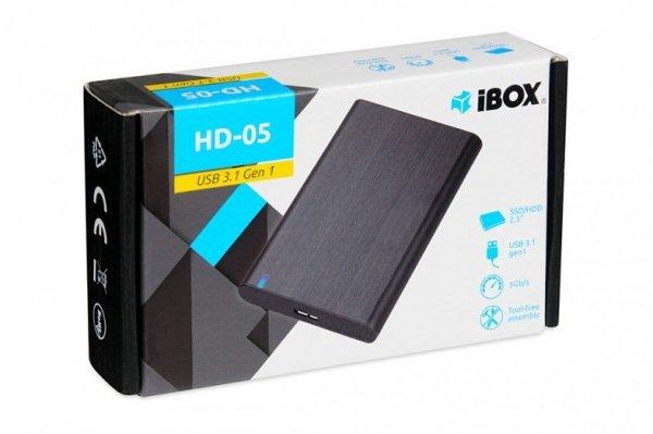 """iBox HD-05 2.5"""" Obudowa HDD/SSD Czarny"""