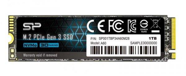 Silicon Power P34A60 M.2 1000 GB PCI Express SLC  NVMe