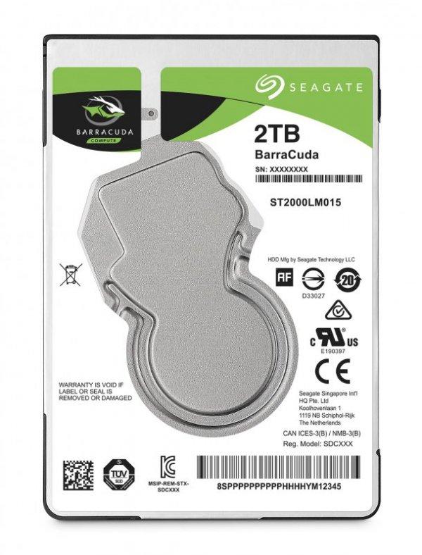 """Dysk HDD Seagate Barracuda ST2000LM015 (2 TB ; 2.5""""; 128 MB; 5400 obr/min)"""