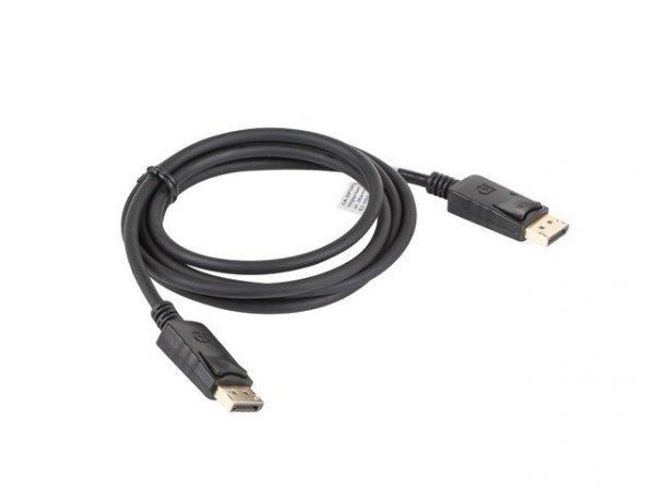 Kabel Lanberg  CA-DPDP-10CC-0018-BK (DisplayPort Męski - DisplayPort Męski; 1,8m; czarny)
