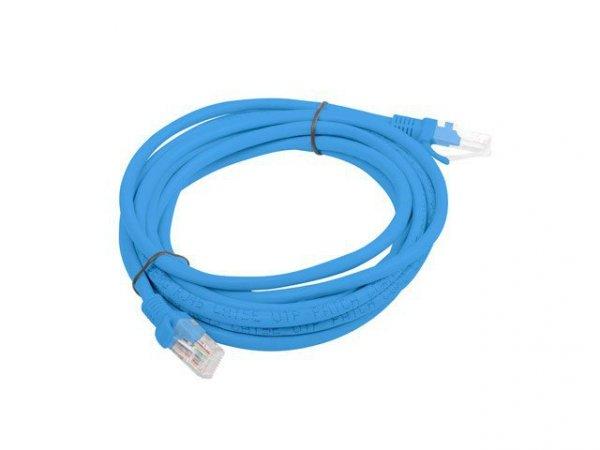 Patchcord UTP Lanberg PCU5-10CC-0300-B (RJ45 - RJ45 ; 3m; UTP; kat. 5e; kolor niebieski)