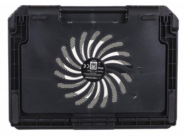 Podstawka chłodząca pod notebook Esperanza EA141 (17.x cala; 1 wentylator; HUB)