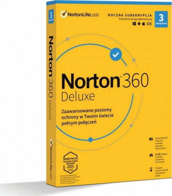 Norton 360 Deluxe 3D/12M BOX