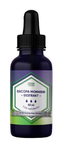 Bacopa Monnieri - Brahmi - ekstrakt mikrocząsteczkowy, 50 ml, krople, Izen Herbs Organis