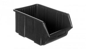Pojemnik magazynowy plastikowy 36x22,5x16,5cm czarny 79R184