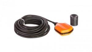 Wyłącznik pływakowy z przewodem PVC 15m do wody czystej i szarej z przeciwwagą LVFSP1W15