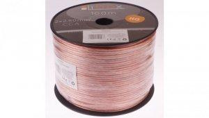 Przewód głośnikowy CCA 2x2,50 ECa LB0009 LIBOX /100m/