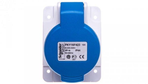 Gniazdo tablicowe 3P 16A 230V niebieskie IP44 PKY16F423